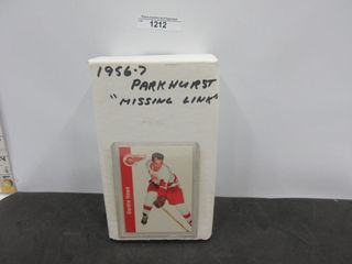 HOCKEY CARDS  1956 57  PARKHURST