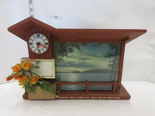 ClOCK   FROM THE lAND OF SKY BlUE WATERS