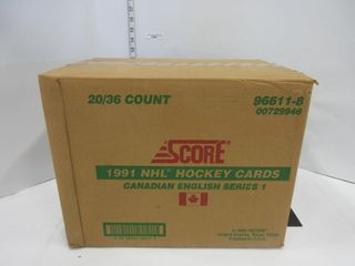 BOX OF HOCKEY CARDS  1991  SCORE