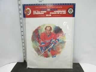 NHl All STARS lITHOGRAPH  GUY lAFlEUR