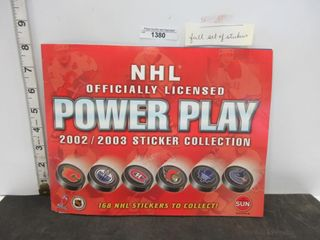 STICKER COllECTION  2002 03 NHl