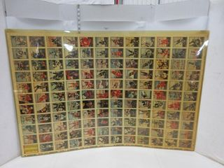 UNCUT HOCKEY CARD SHEETS  1990 91  OPC