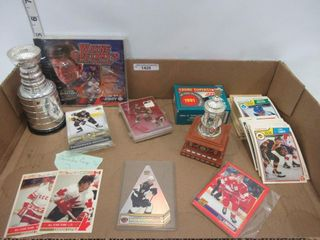 lOT  HOCKEY CARDS  DVD  TROPHIES  MISC