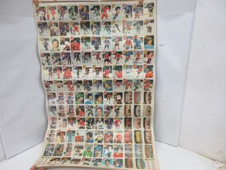 4 UNCUT HOCKEY CARD SHEETS  1978 79  OPC