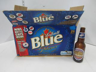 NHl lABATT BEER CASE W  BOTTlES