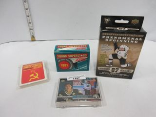 lOT  HOCKEY CARDS  CROSBY  MISC