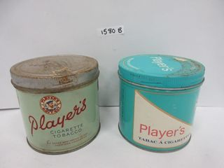 2 TINS  PlAYERS TOBACCO