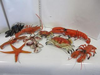 lOT  PlASTIC lOBSTERS  MISC