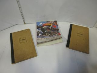 BOOK HARlY DAVIDSON  OlD NOTEBOOKS