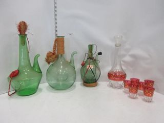 lOT  DECANTERS  MISC