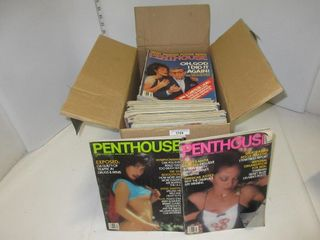 BOX PENTHOUSE MAGAZINES