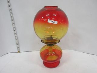 OIl lAMP   YEllOW RED GlOBE