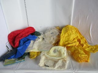 lOT  RAIN SUITS  BAGS  BUG NETTED SHIRTS  MISC