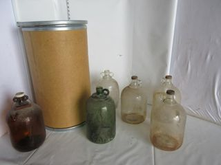 lOT  GlASS JUGS  MISC