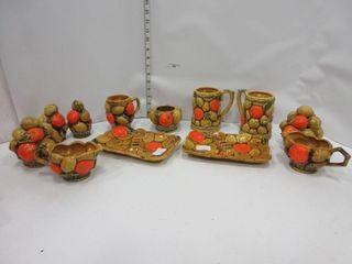 VINTAGE ORANGE ASHTRAYS  MISC