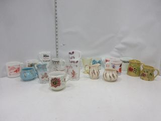lOT  MUGS  CREAM   SUGARS  MISC