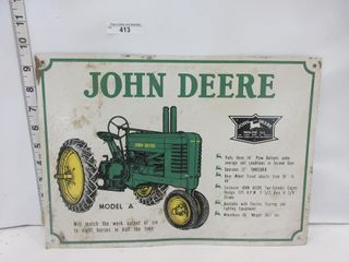 SIGN   JOH DEERE MODEl A