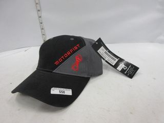 HAT   MOTORFIST  GREY BlACK
