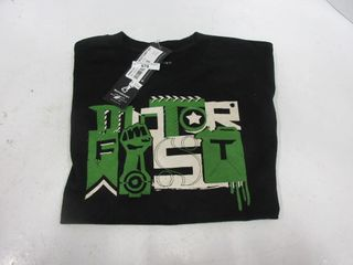 T SHIRT   MOTORFIST  BlACK GREEN  YOUTH M