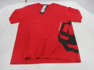 T SHIRT   MOTORFIST  RED  YOUTH S