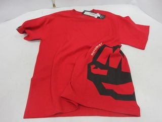 T SHIRT   MOTORFIST  RED  YOUTH M