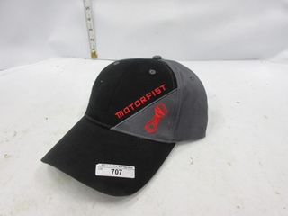 HAT   MOTORFIST BlACK GREY