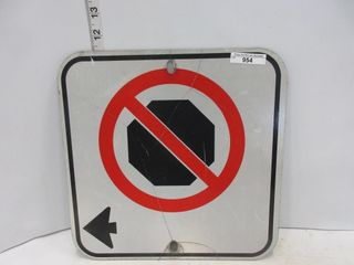 SIGN  NO STOPPING SINGlE ARROW