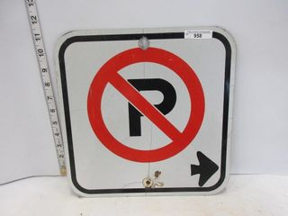 SIGN  NO PARKING SINGlE ARROW