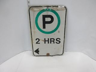 SIGN  2 HRS PARKING