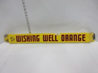 PUSH BAR   WISHING WEll ORANGE
