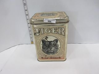 TIN  TIGER CHEWING TOBACCO