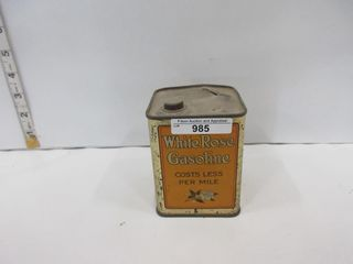TIN  WHITE ROSE GASOlINE