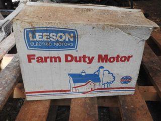 Brand New leeson Farm Duty 1 5 HP Motor