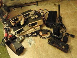 Four Midland 2 Way Radios with Brackets and Mics