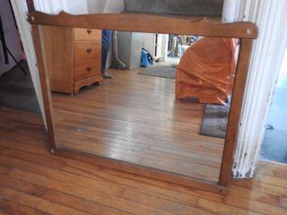 Maple Frame Hanging Dresser Mirror