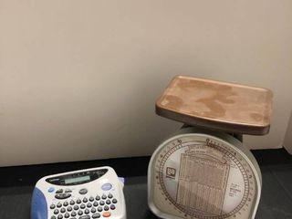 Postal scale and label maker