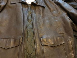 london fog mens leather jacket never worn  Xl