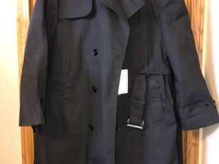 Mens Black cloth long dress coat  never worn  44R