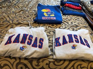 KU hooded sweatshirts Xl XXl