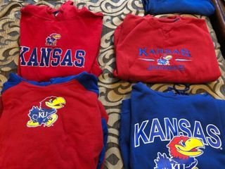 KU sweatshirts 3 red 1 blue Xl  3 are hooded