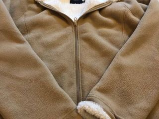 Womens tan fleece hood jacket IX