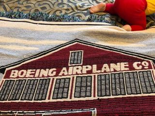 Boeing Airplane and Keeper of the Plains blankets