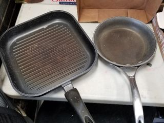 Calphalon pan and Sitram griddle