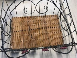 Wicker basket and wire basket