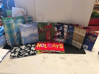 Assorted holiday bags