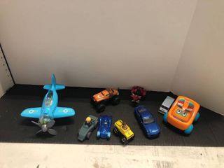 Assorted cars and airplane