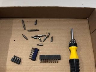 Drill bits and screw driver with matching drill bits