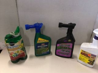 Assorted weed control  fertilizer  lawn chemicals