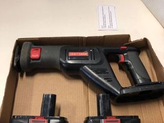 Craftsman Reciprocating Saw with 2 batteries