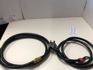 4 prong dryer power cord and rubber hose
